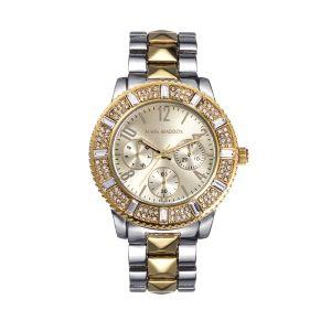 Reloj Mujer bicolor con circonitas