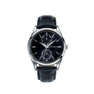 Reloj Hombre negro de piel multifunción