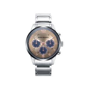 Reloj Hombre Sport de acero y beige