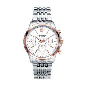 Reloj Hombre de acero bicolor multifunción