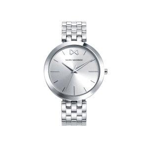 Reloj Mujer de acero plateado clásico