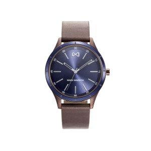 Reloj Shibuya Hombre azul de piel