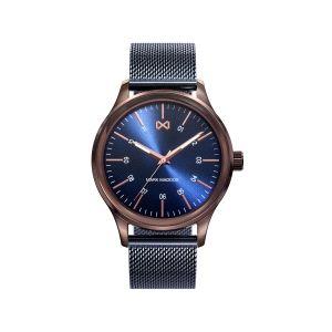 Reloj Village Hombre azul con milanesa