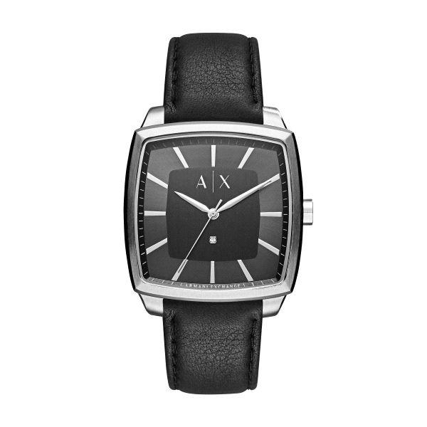 b58b6a81e467 Reloj Hombre con diamante cuadrado piel - AX2362 - Joyería Armaan