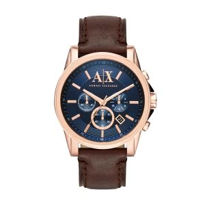 Reloj de Hombre azul y de piel
